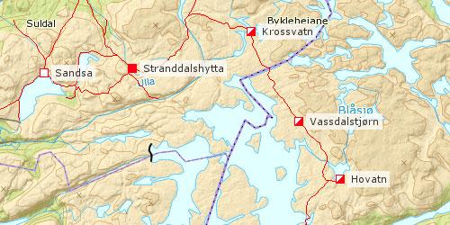 snøsmelting kart VANDRINGER I NORGE snøsmelting kart
