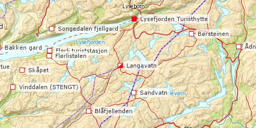 kart lysefjorden VANDRINGER I NORGE kart lysefjorden