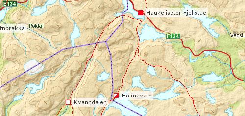 haukeliseter kart VANDRINGER I NORGE haukeliseter kart