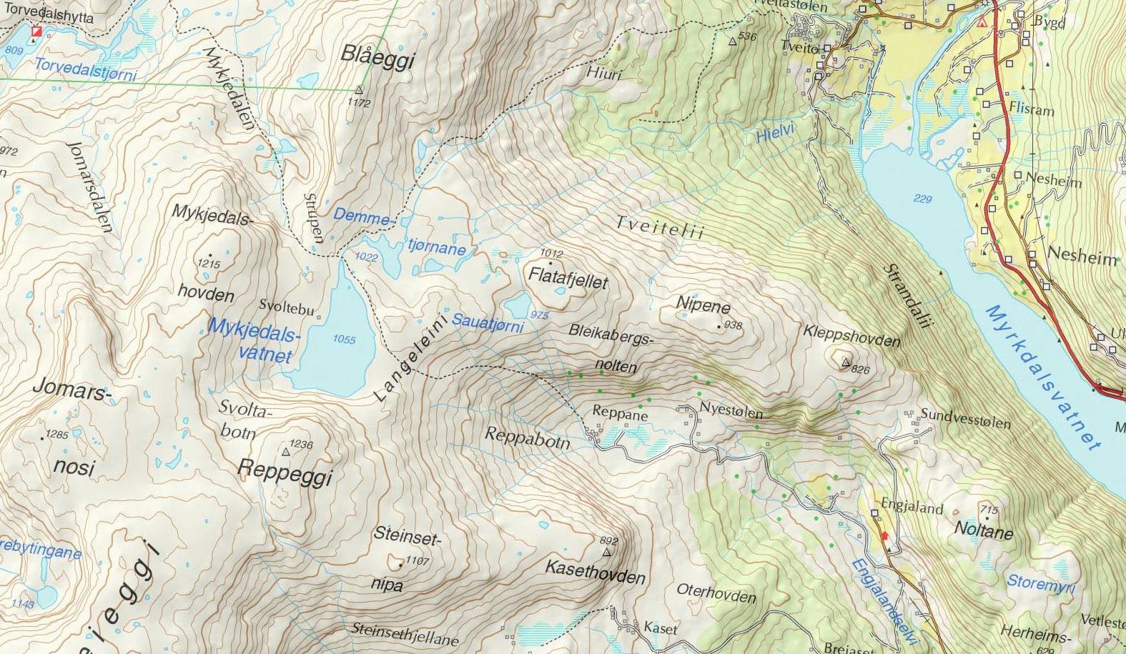 kart norge serien VANDRINGER I NORGE kart norge serien